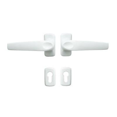 Дръжка с розетка за AL дограма - бяла