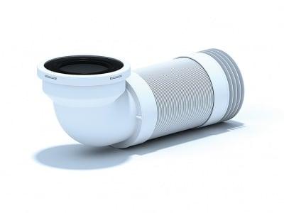 Гофрирана връзка за WC  90 °С ъгъл с маншон