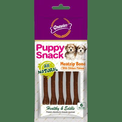 Дентален кокал за бебета кучета MEATZIP BONE с аромат ПИЛЕ 6 броя в пакет