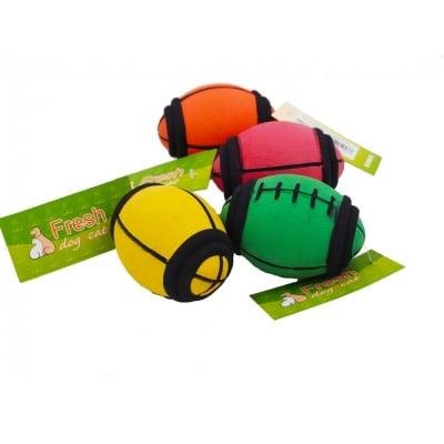 Плътна топка РЪГБИ - играчка за куче