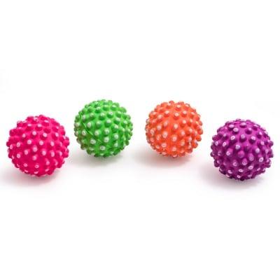 Играчка за куче топка с бодлички плътна гума  - 7,2 см