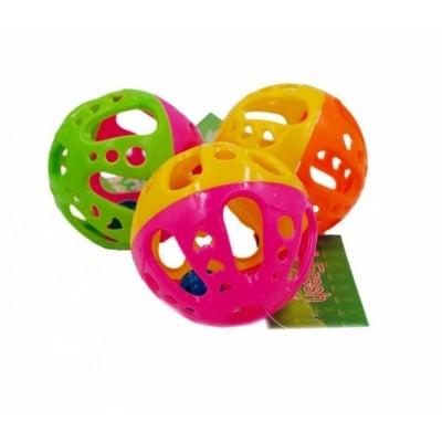Играчка за котка - пластмасово топче със звънче