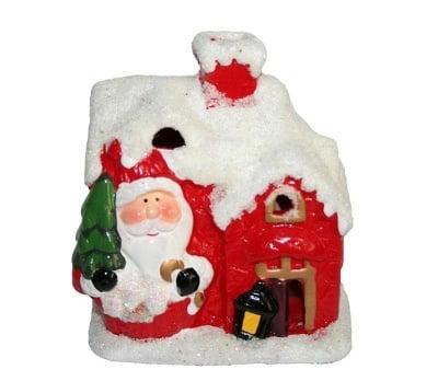 Коледен свещник с Дядо Коледа