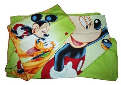 Детски спален комплект Мики Маус и Плуто - Roxyma Dream