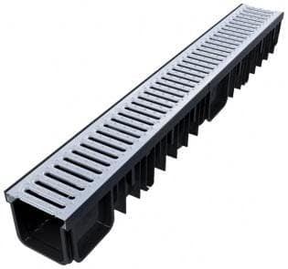 Канал с метална решетка 130/90 1м. XDRAIN - Devorex
