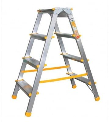 Дустранна алуминиева стълба 2x4 EUROSTYL - ALVE