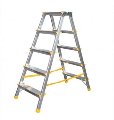 Дустранна алуминиева стълба 2x5 EUROSTYL - ALVE