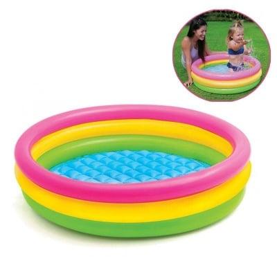Детски басейн 86 x 25 с надуваемо дъно  - Intex