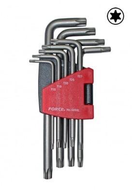 Комплект ключове Г-образни (T10-T50) - FORCE