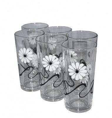 Комплект чаши за вода черно-бяло 6 бр. - ЧИЛИ