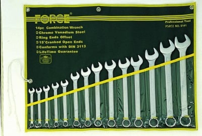 Комплект звездогаечни ключове 11- 32 мм. 14 бр. - FORCE