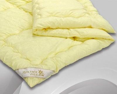 Олекотена завивка флорал жълто 220/240- Roxyma Dream