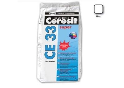 Фугираща смес за запълване на фуги цвят бял - CERESIT