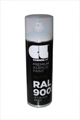 Спрей черен мат акрил №9005  - COSMOS