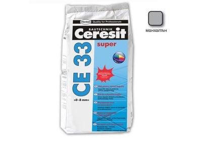 Фугираща смес за запълване на фуги цвят манхатън - CERESIT