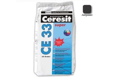 Фугираща смес за запълване на фуги цвят антрацит  - CERESIT