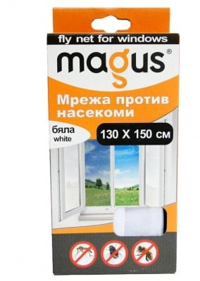 Мрежа срещу насекоми 150х180 см. бяла - MAGUS