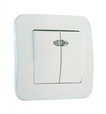 Ключ двоен  бял с лампичка - Lilium