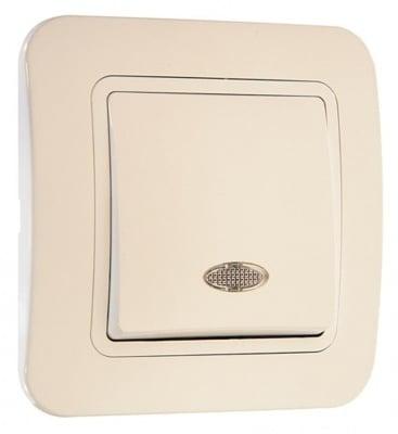 Ключ девиаторен със светлинен индикатор кремав - Lilium