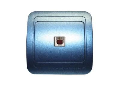 Розетка телефонна синя - Mimoza