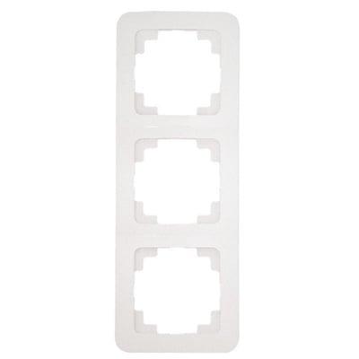 Тройна рамка вертикална цвят бял - Lilium