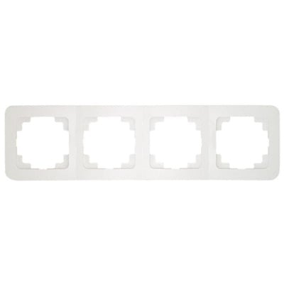 Четворна рамка  хоризонтална  цвят бял - Lilium