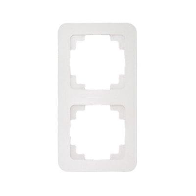 Двойна рамка вертикална цвят бял - Lilium