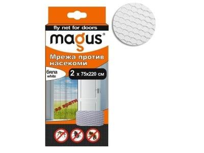 Мрежа срещу насекоми 2 х 75х220 см. бяла - MAGUS