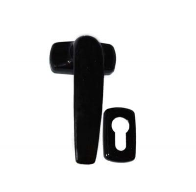 Дръжка за врата с възвратен механизъм / цвят черен / - УНИМЕТ