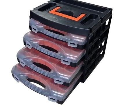 Кутия за инструменти с 4  органайзера
