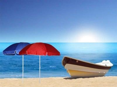Плажен чадър едноцветен