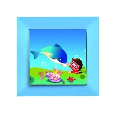 Детски ключ син /делфин / - Candela