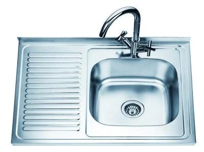 Алуминиева мивка с ляв плот - Inter Ceramic