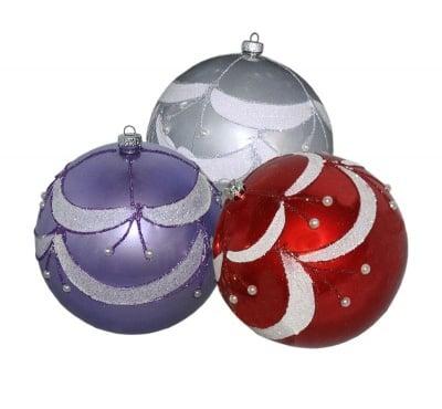 Коледни топки - големи 2 бр.
