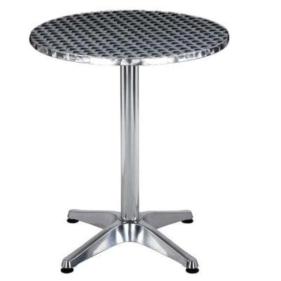 Алуминиева маса кръгла