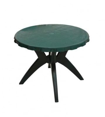 Кръгла градинска маса Ф90 зелена Lux
