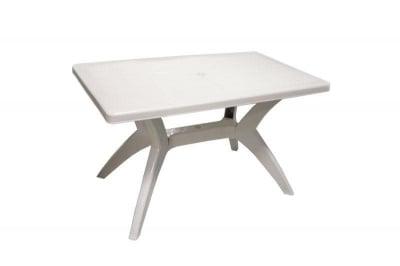 Градинска маса правоъгълна 120х70 см. бяла