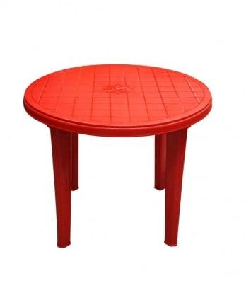 Кръгла градинска маса ф90 червена