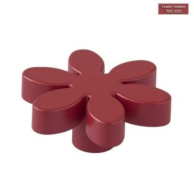Мебелна дръжка цвете тъмно червен