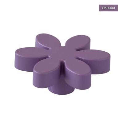 Мебелна дръжка цвете лилаво