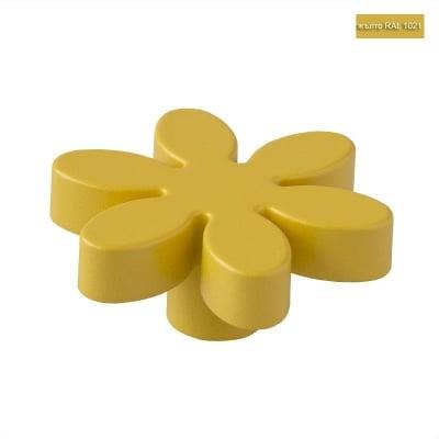 Мебелна дръжка цвете жълта