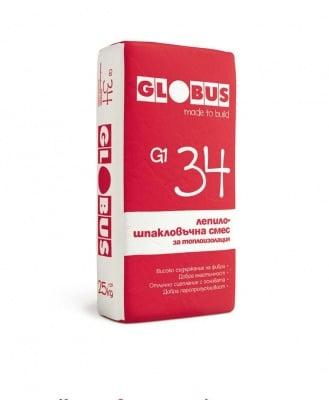 Лепило - шпакловъчна смес за топлоизолации G1 34 25 кг. - Globus