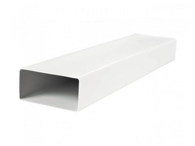 Въздуховод плосък 100 см. Vents PVC - бял