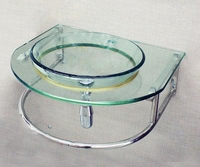 Стъклен умивалник за баня