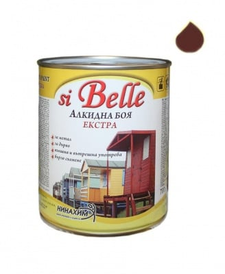 Алкидна боя si Belle Екстра кафява