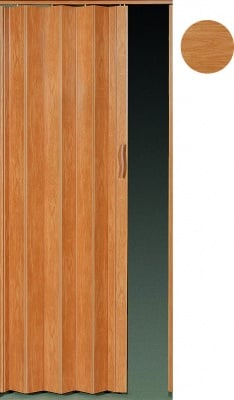 PVC врата тип Хармоника Accordion - светъл дъб