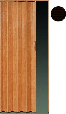 PVC врата тип Хармоника Accordion - тъмен орех