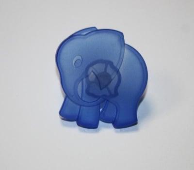 Мебелна дръжка слонче синьо