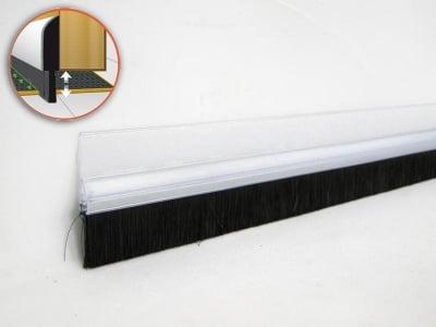 PVC уплътнител за врата с четка 1 м. прозрачен - GEKO