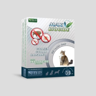 Противопаразитна каишка  за котки 35 см. - Max Biocide NBP